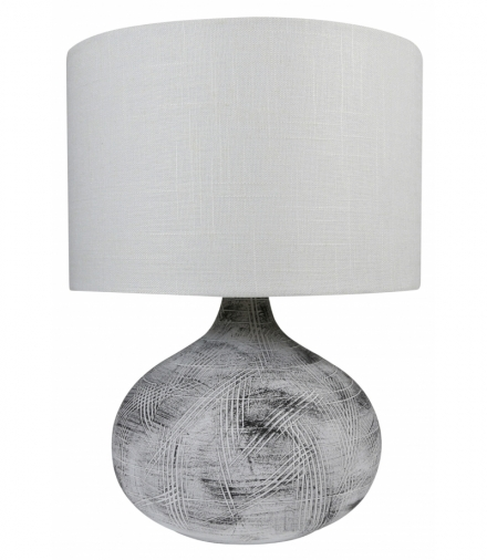 LAMPKA OMAR GABINETOWA CERAMICZNA 1X40W E27 BEŻOWY Candellux 41-68569