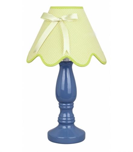 LAMPKA LOLA GABINETOWA NIEBIESKA 1X40W E14 ABAŻUR PISTACJA Candellux 41-84361