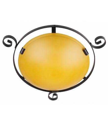 LAMPA 119 TRADYCJA - PLAFON 2X60W E2 BRĄZOWY Candellux 6130021-24
