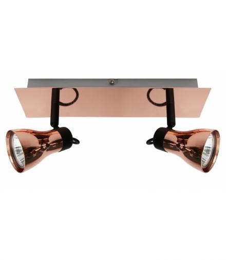 LAMPA ANGUS LISTWA 2X50W GU10 CZARNY+MIEDZIANY BEZ ŻARÓWEK Candellux 92-60532
