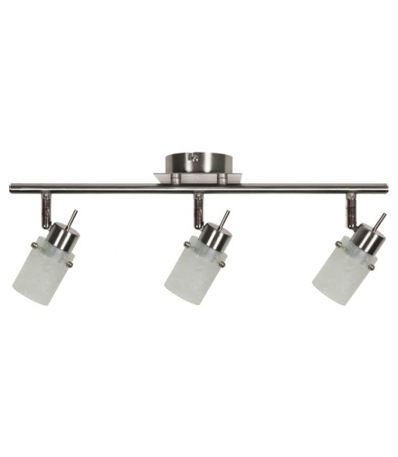 LAMPA FROZEN LISTWA 3X40W G9 NIKIEL MAT Candellux 93-22479