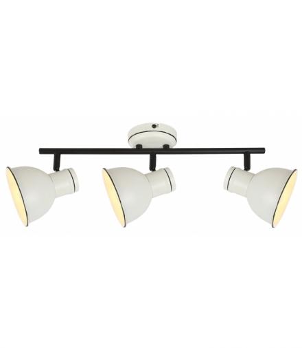 ZUMBA LAMPA SUFITOWA LISTWA 3X40W E14 BIAŁY+CZARNY Candellux 93-72146