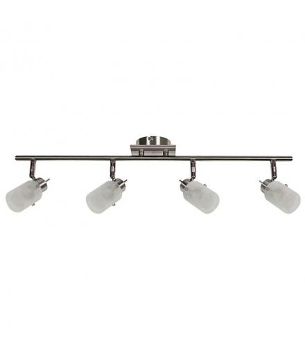 LAMPA FROZEN LISTWA 4X40W G9 NIKIEL MAT Candellux 94-22516