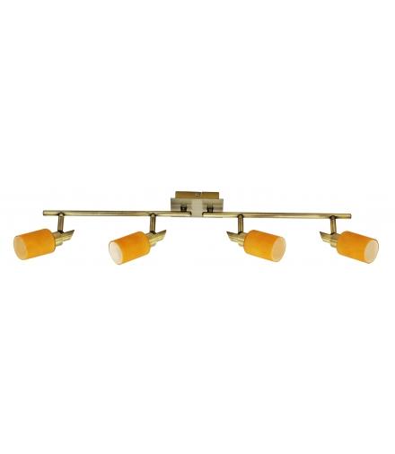 LAMPA TUKAN LISTWA 4X40W G9 PATYNA POMARAŃCZOWY Candellux 94-28160