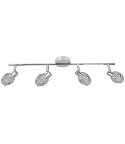LAMPA GOLDEN LISTWA 4X40W G9 CHROM FIOLETOWY Candellux 94-56217