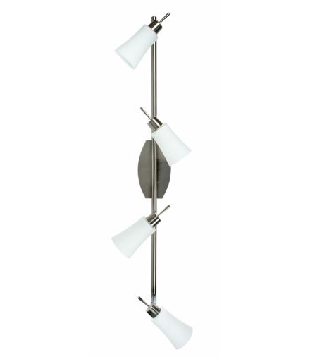 LAMPA KROTON LISTWA 4X40W G9 NIKIEL MAT/BIAŁY Candellux 94-85644