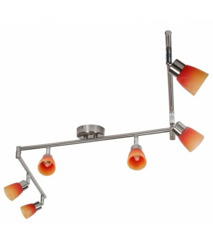 LAMPA DROPS LISTWA 6x40W G9 NIKIEL MAT RAINBOW Candellux 96-07417