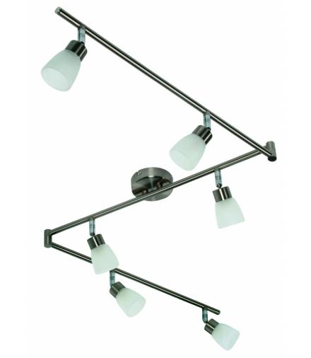 LAMPA DROPS LISTWA 6x40W G9 NIKIEL MAT Candellux 96-84050