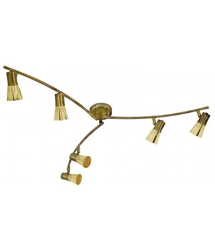 LAMPA ARENA LISTWA 6x40W R50 E14 ZŁOTO PATYNA Candellux 96-84494