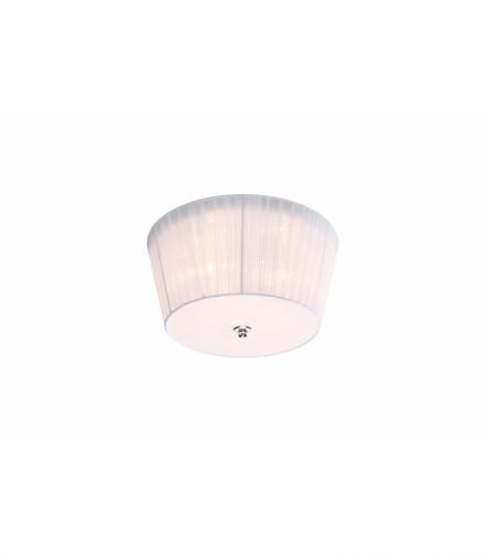 LAMPA CAMEA PLAFON 3X40W G9 + 3W LED Z ABAŻUREM BIAŁY Candellux 98-56245