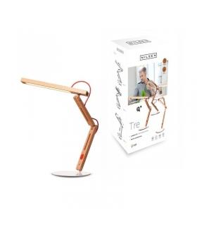 Lampka biurkowa LED 10W Tre I DREWNIANA, ręcznie wykonana !