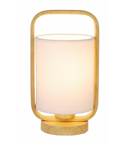 LAMPA STOŁOWA ISUMI 260mm 1 JASNE DREWNO 26x14,5x14,5 Candellux 50501043