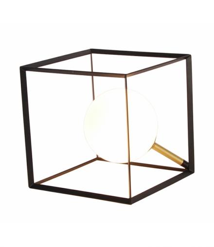 LAMPA STOŁOWA WEERT 1 CZARNY ZŁOTY 20x20x20 Candellux 50501049