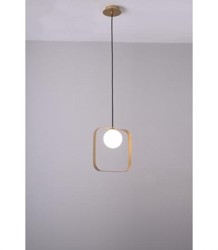LAMPA WISZĄCA TULA 1 ZŁOTY 140x12x26 Candellux 50101073