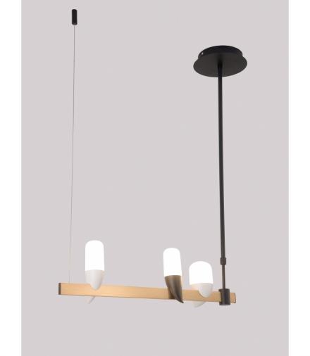 LAMPA WISZĄCA SAKAI 3 CZARNY ZŁOTY Candellux 50233077