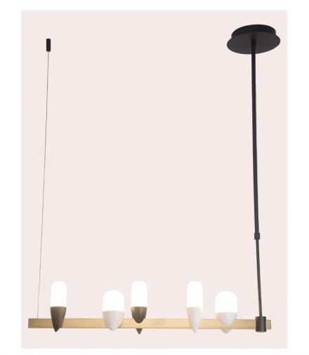 LAMPA WISZĄCA SAKAI 5 CZARNY ZŁOTY Candellux 50233078