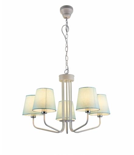 LAMPA WISZĄCA YORK 5 BIAŁY NIEBIESKI Candellux 50205093