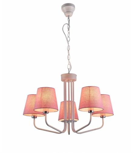 LAMPA WISZĄCA YORK 5 BIAŁY RÓŻOWY Candellux 50205094