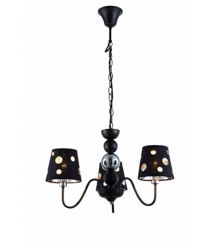 LAMPA WISZĄCA BATLEY 3 CZARNY Candellux 50203105