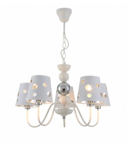 LAMPA WISZĄCA BATLEY 5 BIAŁY Candellux 50205110