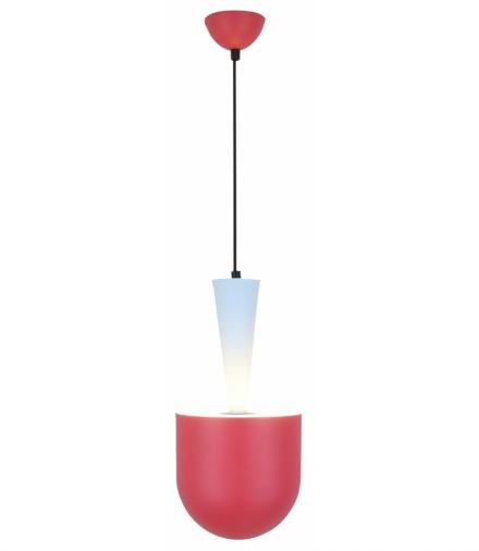 LAMPA WISZĄCA VISBY 1 NIEBIESKI CZERWONY Candellux 50101164