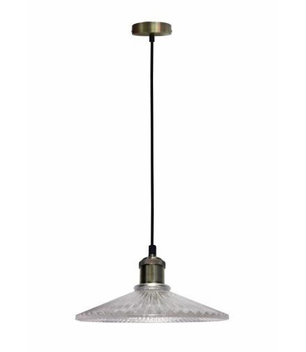 LAMPA WISZĄCA CHESTER 210mm 1 BEZBARWNY PATYNA Candellux 50101271