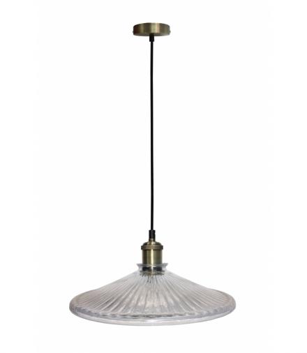 LAMPA WISZĄCA CHESTER 300mm 1 BEZBARWNY PATYNA Candellux 50101272