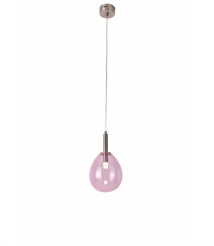 LAMPA WISZĄCA LUKKA 1 CHROMOWY RÓŻOWY Candellux 50133209