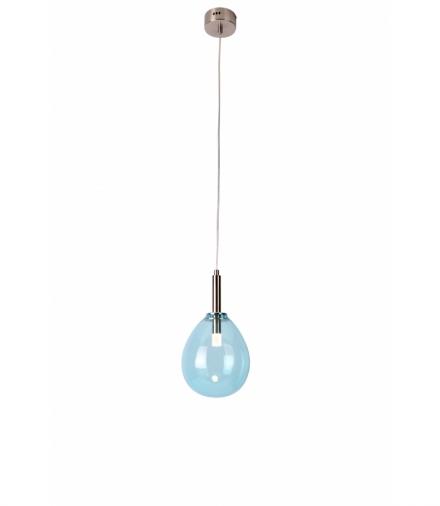 LAMPA WISZĄCA LUKKA 1 CHROMOWY NIEBIESKI Candellux 50133210