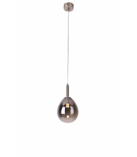 LAMPA WISZĄCA LUKKA 1 CHROMOWY SZARY Candellux 50133211