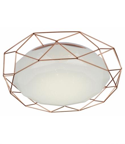 LAMPA PLAFON SVEN 43 24W LED 4000K ZŁOTY Candellux 98-73174