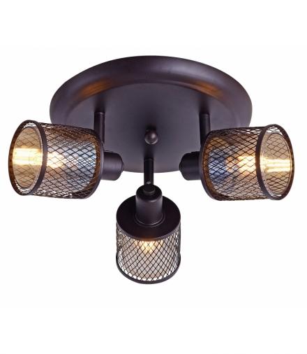 LAMPA SUFITOWA CANABERA PLAFON KAWOWE ZŁOTO 3X40W E14 KLOSZ BURSZTYNOWY Candellux 98-83098
