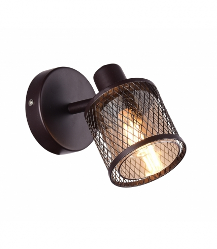 LAMPA KINKIET CANABERA KAWOWE ZŁOTO 1X40W E14 KLOSZ BURSZTYNOWY Candellux 91-81377