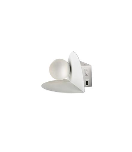 ZENIT LAMPA KINKIET 4W 4000K + ŁADOWARKA USB BIAŁY Candellux 21-76038