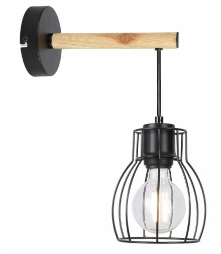 BERNITA LAMPA KINKIET 1X60W E27CZARNY Candellux 21-77059