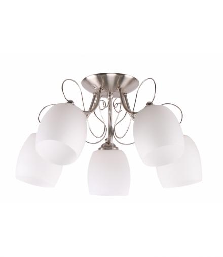 AMBA LAMPA SUFITOWA 5X40W E27 BIAŁY Candellux 35-79251