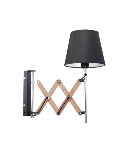 Lampa Kinkiet Mito chrom 1X40W E27 abażur czarny Candellux 21-75420