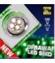 OPRAWA STROPOWA SS-22 CH/TR+GR GU10 50W+LED SMD 2,1W ZIELONY 230V CHROM STAŁA KW Candellux 2235233