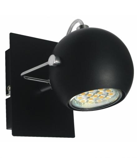 KINKIET TONY 1X3W LED GU10 CZARNY MATOWY Candellux 91-25005-Z