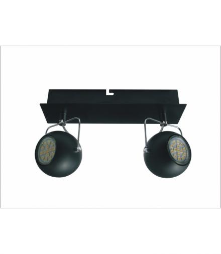 LISTWA TONY 2X3W LED GU10 CZARNY MATOWY Candellux 92-25012-Z