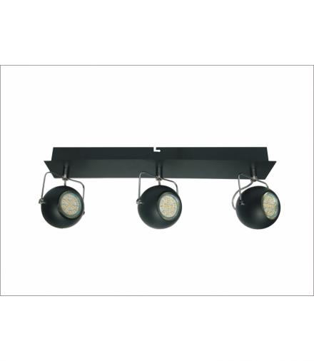 LISTWA TONY 3X3W LED GU10 CZARNY MATOWY Candellux 93-25029-Z