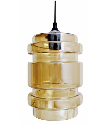 LAMPA WISZĄCA DECORADO 18 1X60W E27 KLOSZ BURSZTYNOWY Candellux 31-36643-Z