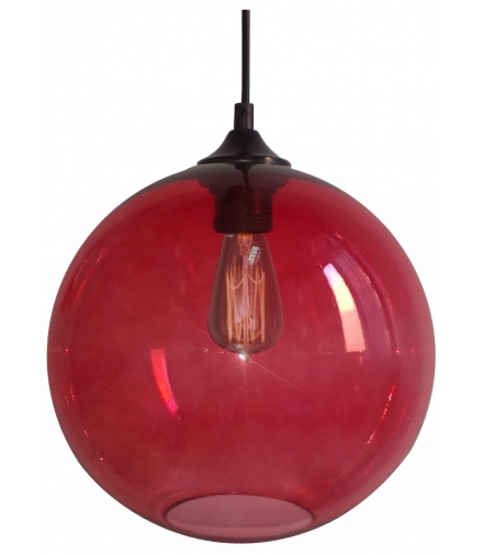 LAMPA WISZĄCA EDISON 25 1X60W E27 CZERWONY Candellux 31-21410-Z