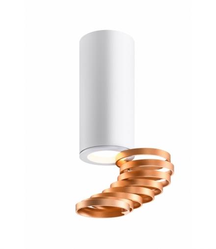 TUBA LAMPA SUFITOWA 1X15W GU10 6/20 ZŁOTY+BIAŁY Candellux 2276076