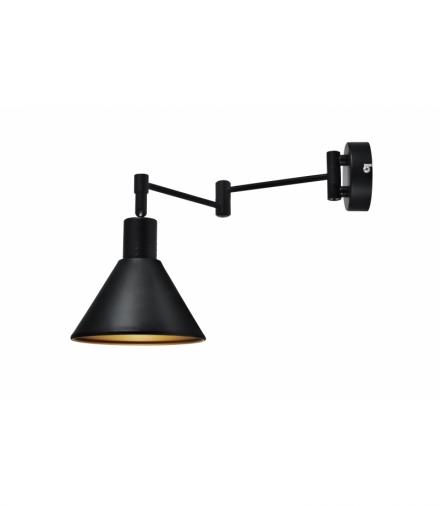 COPENHAGEN LAMPA KINKIET 1X40W E14 CZARNY ŚRDEK ZŁOTY Candellux 21-75444