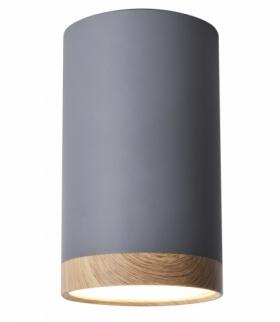 TUBA LAMPA SUFITOWA 9W LED 8,8/15 DREWNIANY+SZARY 4000K Candellux 2282879