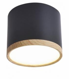 TUBA LAMPA SUFITOWA 9W LED 8,8/7,5 DREWNO+CZARNY 4000K Candellux 2275949
