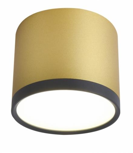 TUBA LAMPA SUFITOWA 9W LED 8,8/7,5 CZARNY+ZŁOTY MAT 4000K Candellux 2275956