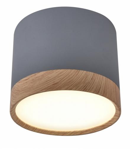 TUBA LAMPA SUFITOWA 9W LED 8,8/7,5 DREWNIANY+SZARY 4000K Candellux 2275925