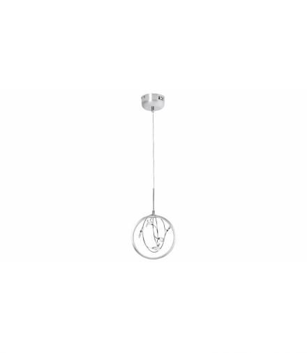 Lampa wisząca CHRISSY LED 1x 7W, IP20 480lm, 3000K, srenbrny chrom kryształ przezroczysty Rabalux 1493